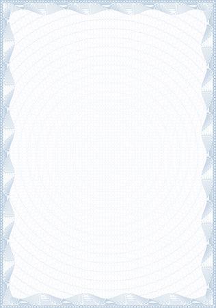 certificat diplome: Forme de style guilloch� pour le dipl�me ou certificat