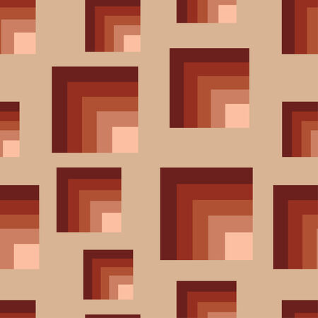 Seamless brown squares pattern Vector