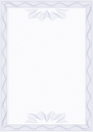 Guilloche style form for diploma or certificate Vector
