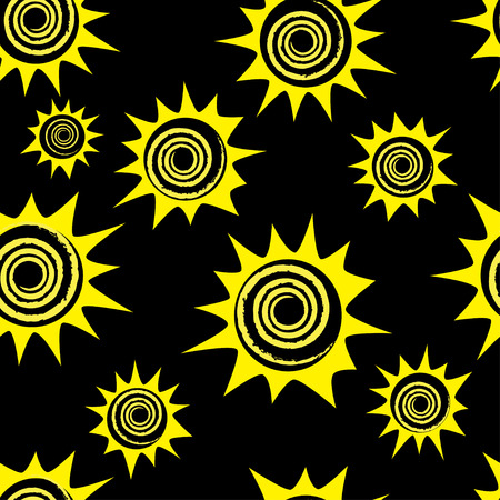 soulful: Abstract seamless pattern with yellow flowers