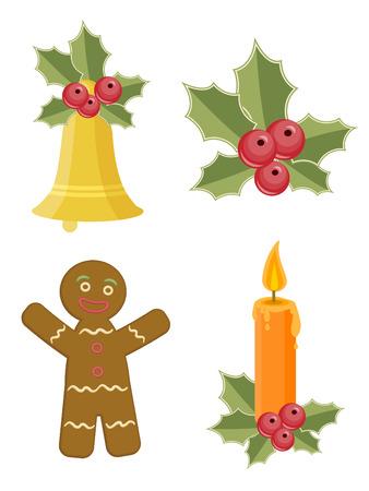christmas cookie: Set of Christmas Icons