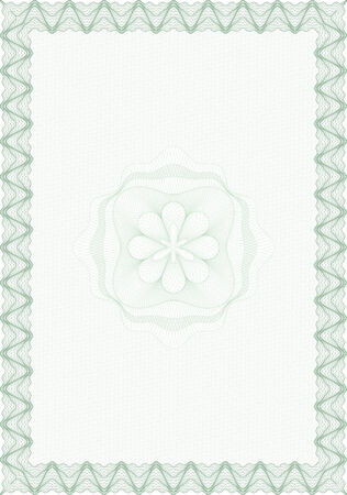 Guilloche style blank form for diploma or certificate Vector