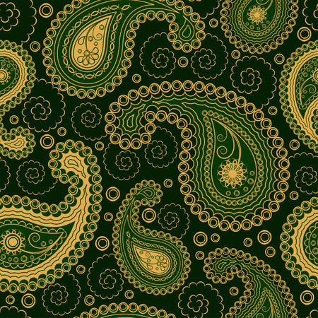 endless: Paisley style seamless ornament