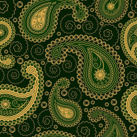 paisley pattern: Paisley style seamless ornament