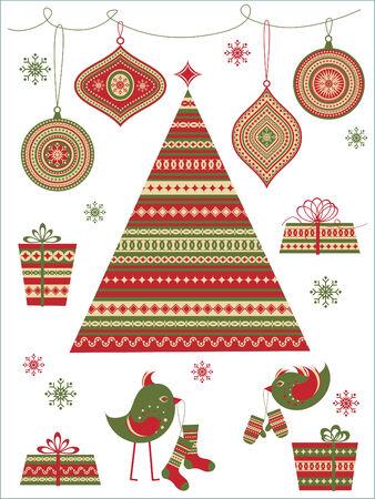 botas de navidad: Conjunto de accesorios de estilo folk