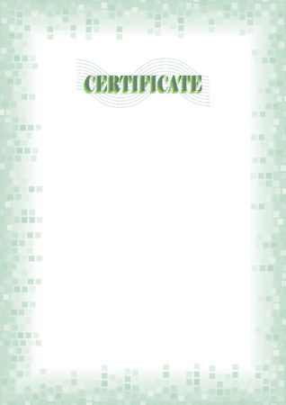 Border for blank diploma or certificate Vector