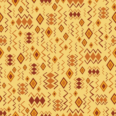 tribe: Tribal art. Seamless pattern with abstract figures Illustration
