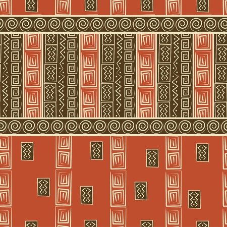 tribe: African style seamless pattern Illustration