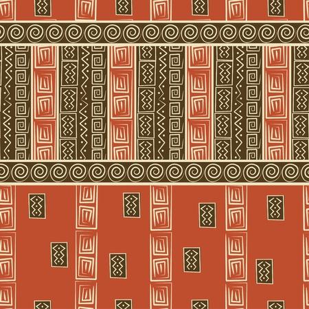 tribu: Patr�n transparente de estilo Africano Vectores