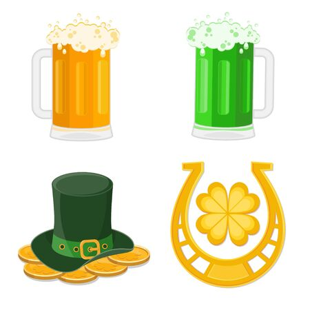 Set of St. Patrick's Day icons Stock Vector - 9472985