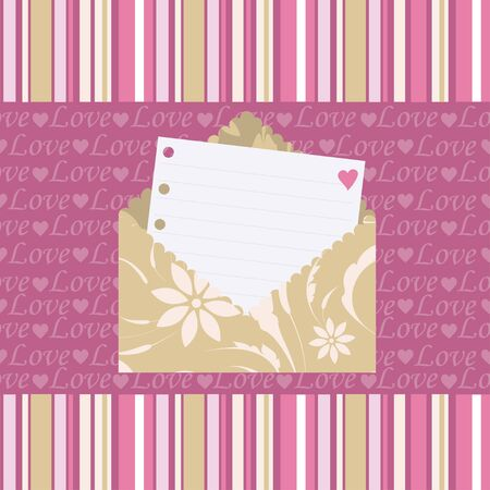 Seamless pattern with love letters Stock Vector - 9475002