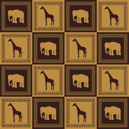 Wild animal seamless pattern