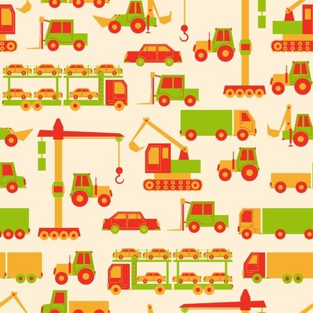 yellow tractor: Patr�n de coches de dibujos animados
