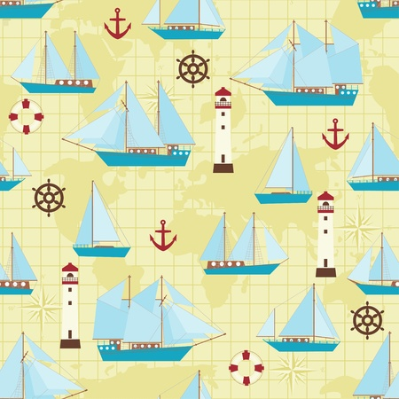 yellow boats: Ship pattern