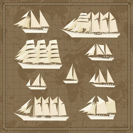 Set of ship icons Stock Vector - 9475113