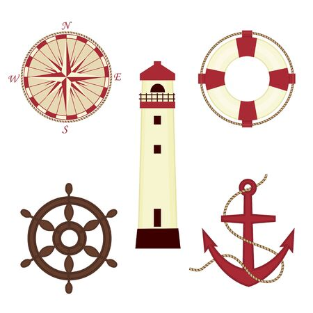 sailor: Set of sea icons Illustration