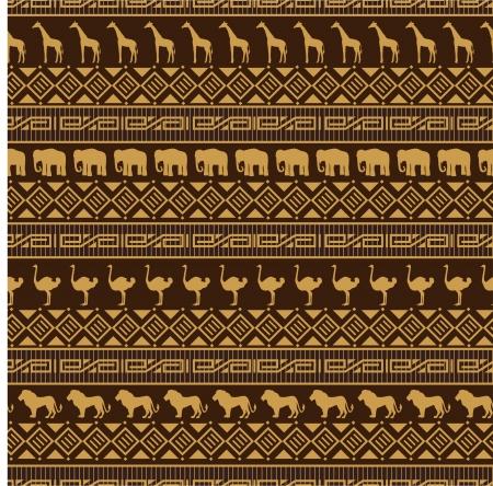 """struś: AfrykaÅ""""ski styl bez szwu deseniu z dzikich zwierzÄ…t."""