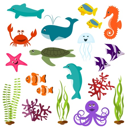 critters: Set of sea animals Illustration