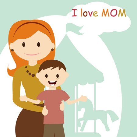 Happy Mothers Day Stock Vector - 12480335