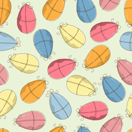 Easter pattern seamless with eggs Vector