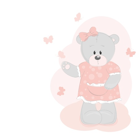Teddy bear and butterfly Stock Vector - 12933913