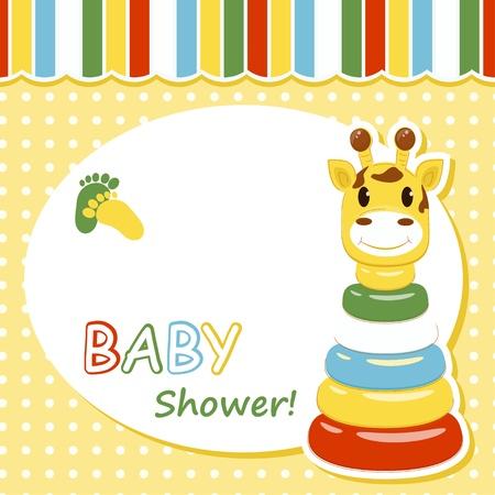 La llegada del bebé tarjeta de ilustración vectorial