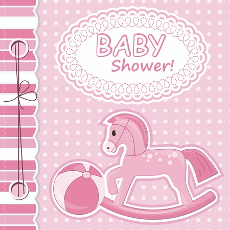 Baby girl scrapbook card Vector