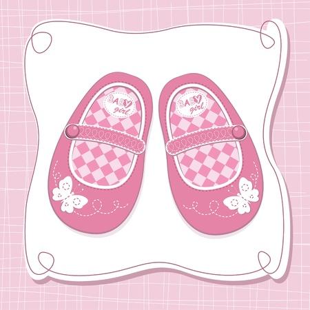 Baby girl Schuhe Vektorgrafik