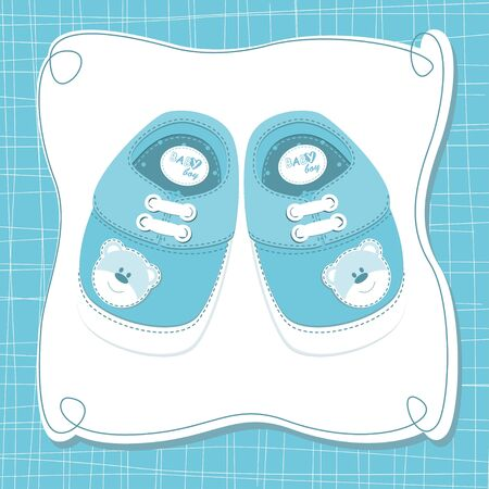 Baby boy shoes Vector