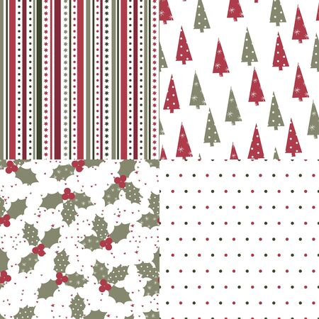 Christmas and New Year seamless pattern Stock Vector - 13784855