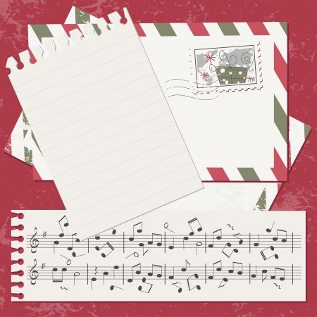 scrapbook cover: Nueva tarjeta de Navidad y A�o bloc de notas con tapa y la letra