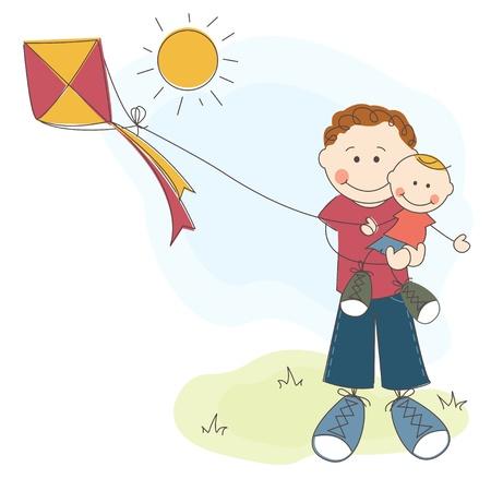 папа: Счастливый День отца с, счастлив папа сын