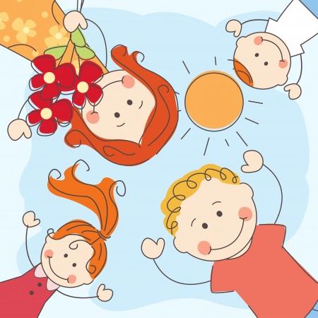 siblings: Happy family