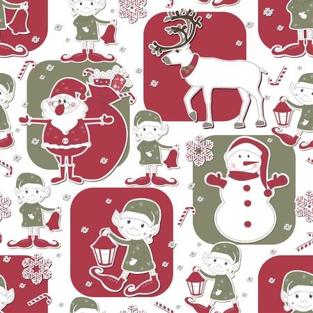 christmas seamless pattern: Christmas and New Year seamless pattern