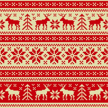 knitted background: Christmas and New Year seamless ornament