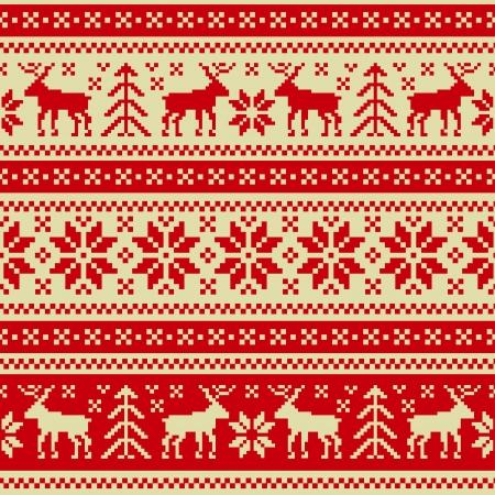 textura lana: Navidad y A�o nuevo ornamento sin fisuras Vectores