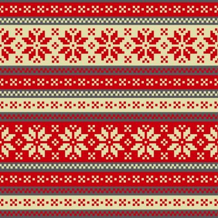 Winter seamless ornament Vector