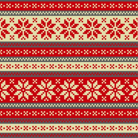 knitted fabrics: Winter seamless ornament Illustration