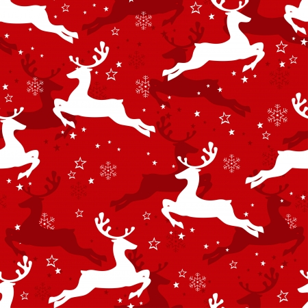 Christmas seamless pattern with  reindeer.  Vector