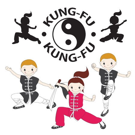 illustration of  kung fu  Vector