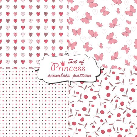 Seamless pattern for little princess Vector