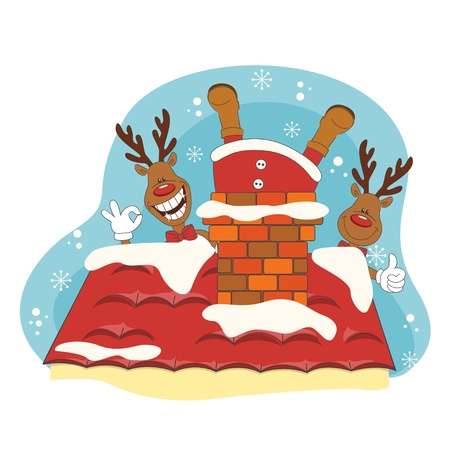 Santa greeting you a Merry Christmas  Hand drawing illustration  Vector