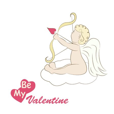 Little cupid , illustration of a Valentine s Day Stock Vector - 17169165
