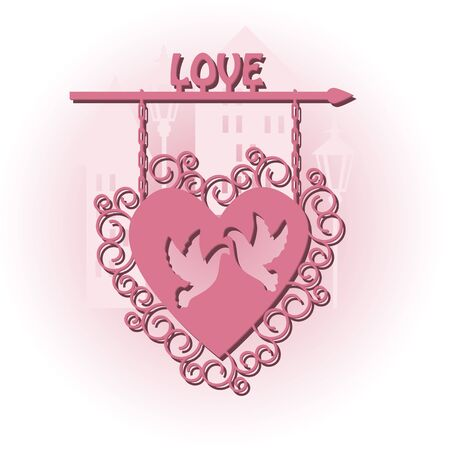Advertising for lovers, happy valentine s day Stock Vector - 17494181