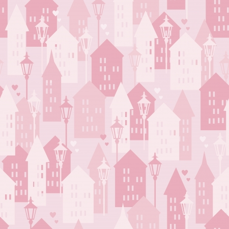 Sweet Home seamless pattern, vector illustration Vector