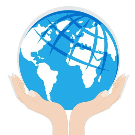 Earth in hands Stock Vector - 19843226