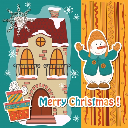 Colorful Christmas card  Vector illustration  Vector