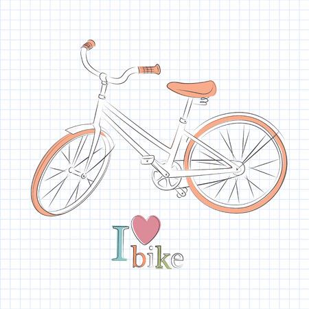 velocipede: Retro bicycle Illustration