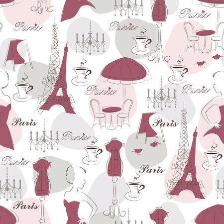 Stylish seamless pattern  Hand drawing Vector