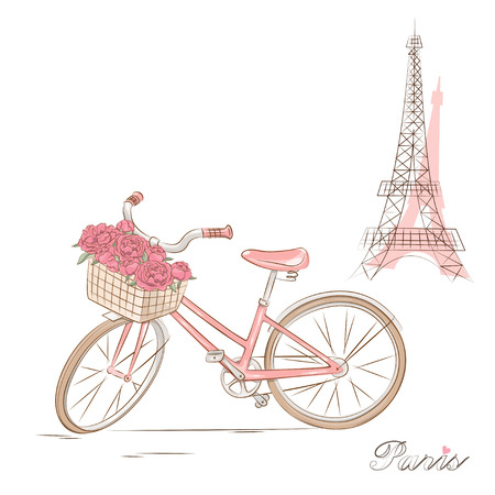 tour: Bicycle with a basket of flowers